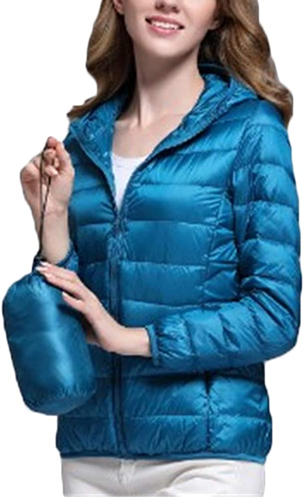 S.Charma Oversize Short Prymo Coat Hooded Womens Lightweight Packable Down Jacket