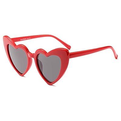 f32ce6f845ee9b Aiweijia Femmes Goggle Coeur Lunettes de soleil Vintage Cat Eye Mod Style  Retro Eyewear