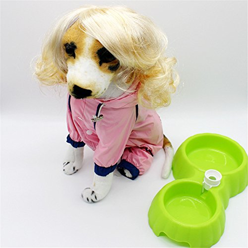 Price comparison product image ZJKC 1 PC Yellow Color Blonde Short Hair Funny Short Blonde English Style Synthetic Wig for Dog Pet Cat Costume Head Dress Fancy Halloween Pet Dog Hat Pet Cat Wig