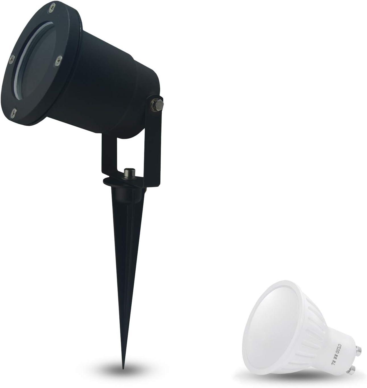Erdspießstrahler mit 4,5 Watt PHILIPS LED Lampe Leuchte Garten Spot draußen