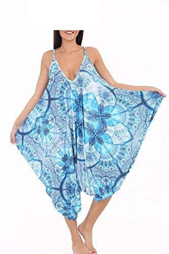 Funky Fashion Shop - Pantalón - para mujer Blue Diamond