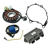Kit HO Stator + HP CDI Box + External Ignition Coil + Crankcase Cover Gasket For Yamaha YFM 660 Raptor 2001