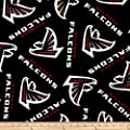 NFL Fleece Atlanta Falcons Black/Red Fabric By The Yard