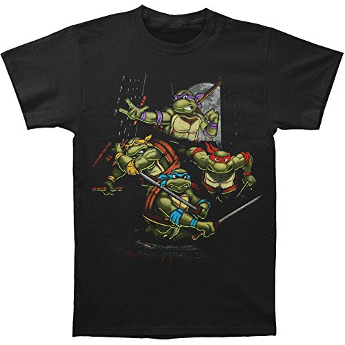 Ptshirt.com-19222-TMNT Group Night Time Attack Adult T-Shirt-B00IFD4VPE-T Shirt Design