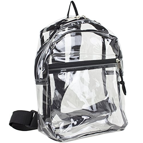 Eastsport 100% Transparent Clear MINI Backpack (10.5 by 8 by 3 Inches) with Adjustable Straps]()