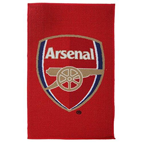 Arsenal Football Club Printed Bedroom Floor Rug/Mat (20 x 31.5in) (Red)