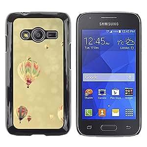 LECELL--Funda protectora / Cubierta / Piel For Samsung Galaxy Ace 4 G313 SM-G313F -- Vignette Hot Air Balloon Yellow Sky --