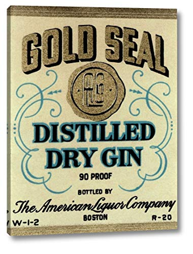 Gold Seal Distiller Dry Gin by Vintage Booze Labels - 21