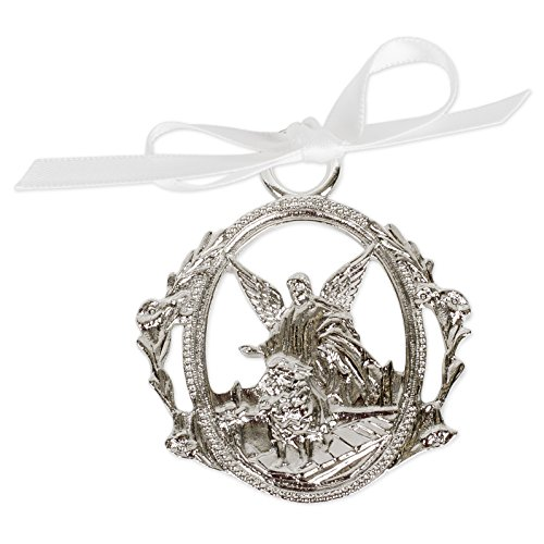 Guardian Angel Crib Medal with White Ribbon ()