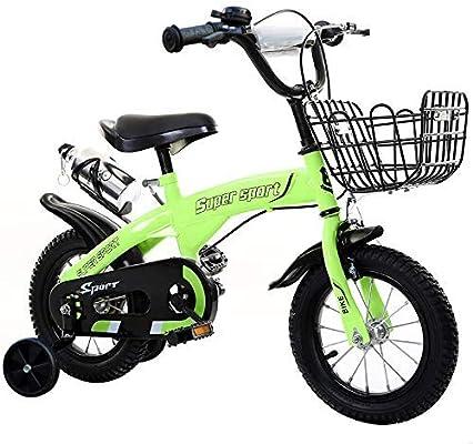 Oanzryybz Bicicleta, Manillar y la Altura del sillín, Ruedas de Apoyo Regulables y Desmontables de los niños pequeños (Size : 14zoll): Amazon.es: Hogar