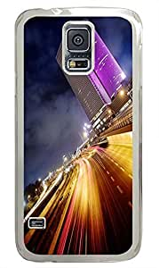 Samsung S5 DIY covers City Lights PC Transparent Custom Samsung Galaxy S5 Case Cover