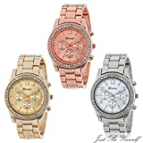 Jaylove Hot Sale New Classic Stainless Steel Alloy Women Quartz Watch Plated Round Ladies Crystals Watch Gifts