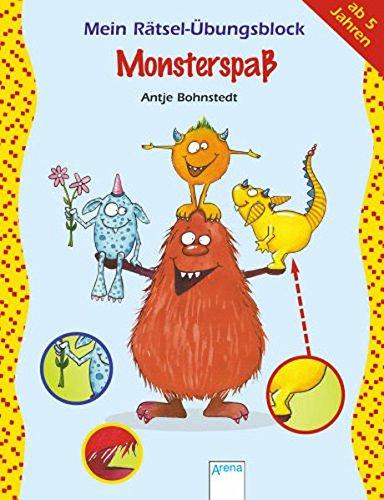 Mein Rätsel-Übungsblock - Monsterspaß
