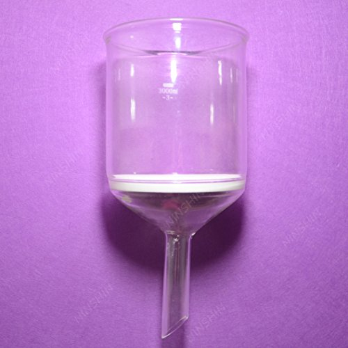 NANSHIN Glassware,Buchner Funnel,3000ML,Porosity 3#,G3.3 borosilicate glass,Glass Funnel,Lab glassware