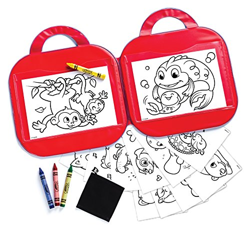 51BHerj3SrL - Crayola Toddler Coloring Set, Reusable Activity Mat with Washable Crayons, Gift