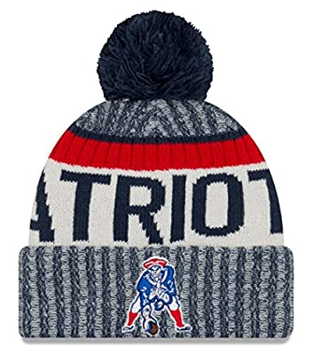 New England Patriots New Era 2017 Historic Throwback On-Field Sport Knit Beanie Hat / Cap