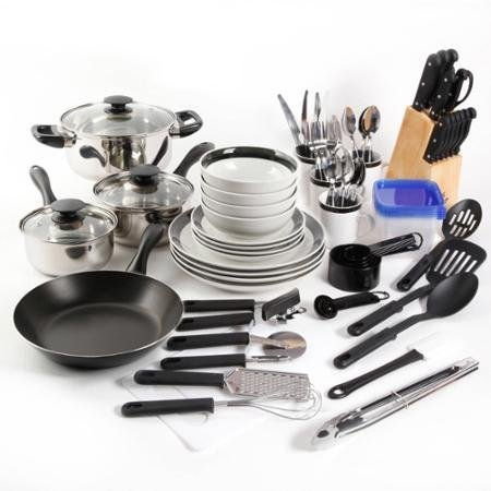 Gibson Home Essential Total Kitchen 83-Piece Combo Set Black Color by Gibson