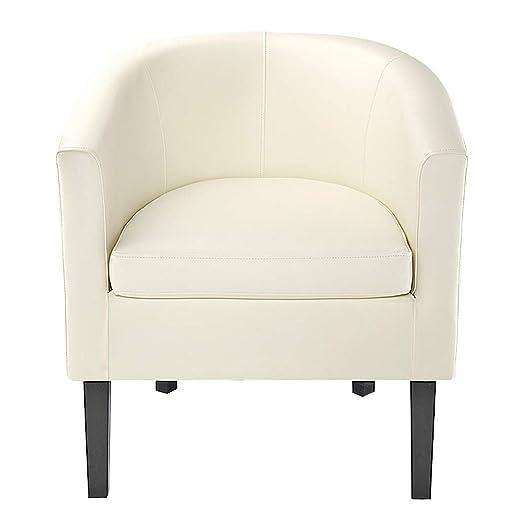 Panana Songtree - (58x50x70cm) Butaca Blanca Moderna Cuero PU Sillón Relax