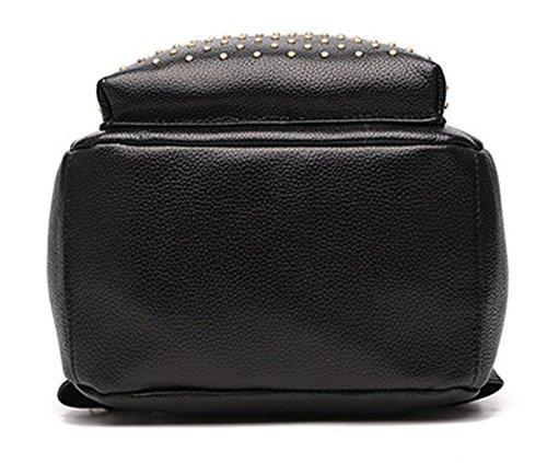 Keshi Pu neuer Stil Damen accessories hohe Qualität Einfache Tasche Schultertasche Freizeitrucksack Tasche Rucksäcke Tiefblau xrLigjtEEI