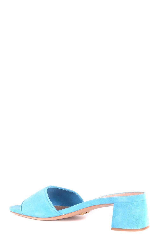 Car Shoe Womens MCBI34834 Light Blue Suede Heels