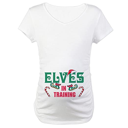 26699000fe9fd CafePress Elves in Training Maternity T-Shirt Cotton Maternity T-shirt,  Cute &