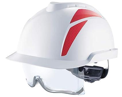 MSA Trabajo Casco V de Gard 930 con Gafas de protección integradas – La Industria Casco