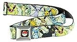 Pokemon Eevee Evolution Seatbelt Belt - Holds Pants