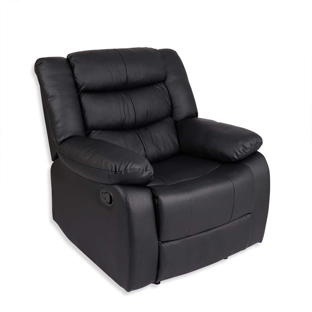 Beauty7Less Lazy Boy Leather Style Recliner Chair