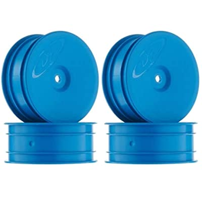 DE Racing 12mm Hex Speedline 2.2 1/10 Buggy Front Wheels (4) (B6/RB6) (Blue): Toys & Games