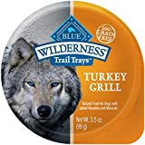 BLUE Wilderness Trail Trays Adult Grain Free Turkey Grill Wet Dog Food 3.5-oz (pack of 12)