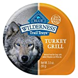 Blue Buffalo Wilderness Trail Trays High Protein Grain Free, Natural Adult Wet Dog Food Cups, Turkey Grill 3.5-Oz (Pack Of 12) For Sale