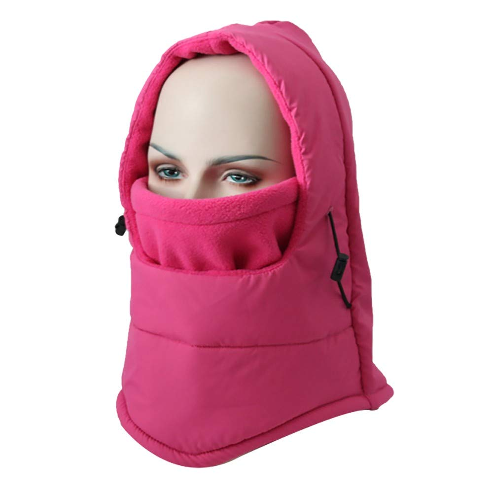 Hmlai Multi-Function Mask Balaclava Windproof Ski Mask Cold Weather Face Cover (Style 2-Hot Pink)