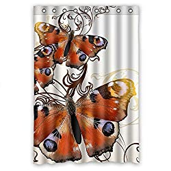 Monadicase Width X Height / 48 X 72 Inches / W H 120 By 180 Cm Polyester Butterfly Bathroom Curtains,fabric Is Fit For Him,teens,bf,kids Girl,girls. Eco Friendly