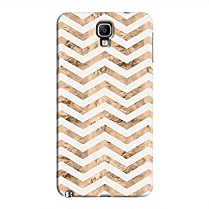 Cover It Up - Brown White Tri Stripes Galaxy Note 3 Neo Hard case