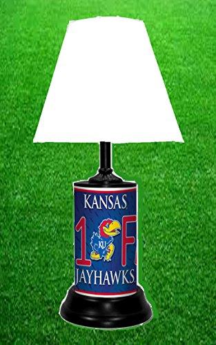 KANSAS JAYHAWKS NCAA LAMP - BY TAGZ (Kansas Jayhawks Desk Lamp)