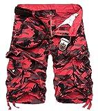 AOYOG Men's Camo Cargo Shorts Cotton