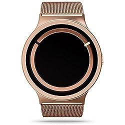 ZIIIRO Eclipse Steel Unisex Watches Rose Gold