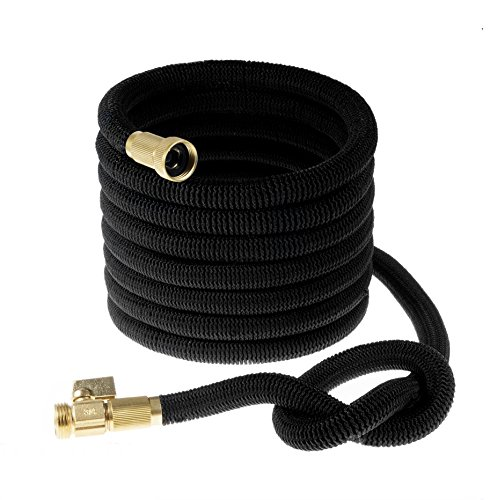 Premium Expanding Water Hose Up To 50 Foot - Lightweight & Durable Expandable Garden Hose - Doesn't Twist & Kink - Brass End Fittings - Suitable For Home & Heavy - Garden Is What State State