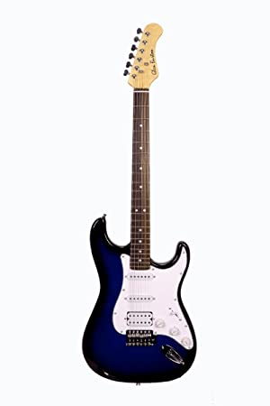 39 pulgadas azul tamaño completo guitarra eléctrica con doble pastilla Humbucker para guitarra eléctrica Pick Up