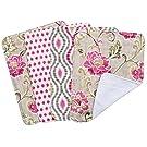 Trend Lab Waverly Jazzberry Bouquet 4 Piece Burp Cloth Set