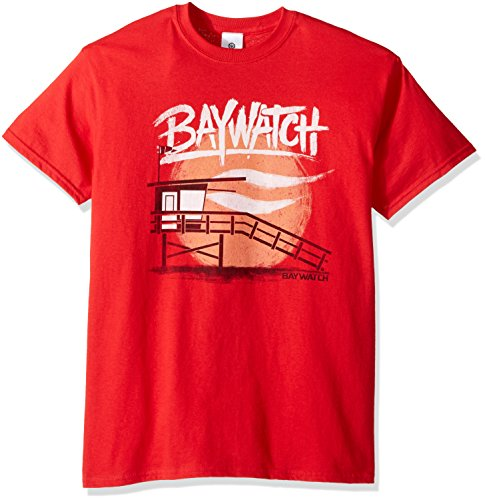 Baywatch Men's Tower T-Shirt, Red, Large