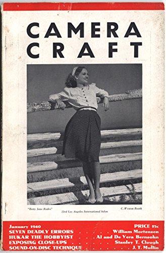 - Camera Craft Magazine January 1940