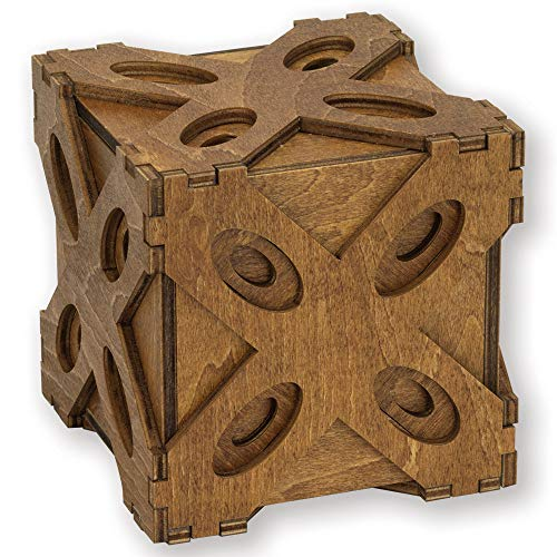 (Bits and Pieces - Butterfly Moving Puzzle Box - Wooden Brainteaser - Secret Compartment Brain Game for Adults)