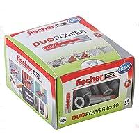 Fischer Duo Power universele pluggen, maat 8 x 40 mm, pak van 100 stuks,