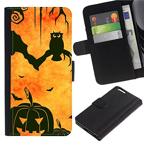 [Halloween Bats and Pumpkin] For Google Pixel 2, Flip Leather Wallet Holsters Pouch Skin Case