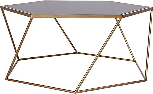 Y-Leah Mesa de Centro Personalizada Hexagonal, línea de Pintura de ...