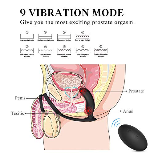 Anal-Sex-Toys-Prostate-Massager-Feelingirl-Male-Vibrators-Penis-Ring-9-Vibration-Mode-Wireless-Remote-Control-Vibrator-Rechargeable-Waterproof-P-spot-Vibrating-for-Men-and