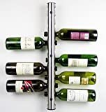 12 Holes Home Bar Wall Grape Wine Bottle Display Stand Rack Suspension Storage Organizer