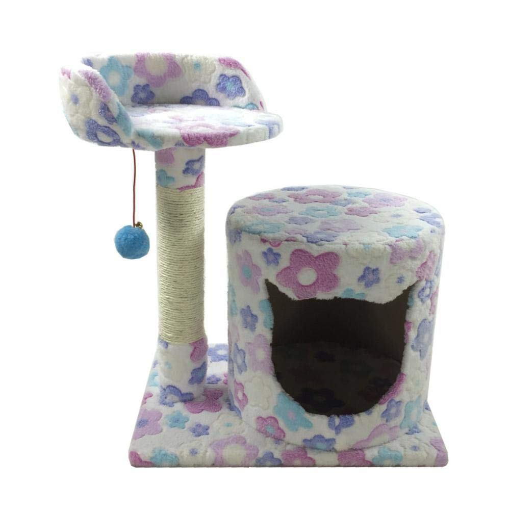 TOUYOUIOPNG Deluxe Multi Level Cat Tree cat trees towers Pet cat Toy Platform grab column grab board furniture cat Nest bed House plate hemp Flannel 45  34  54cm (color   B)