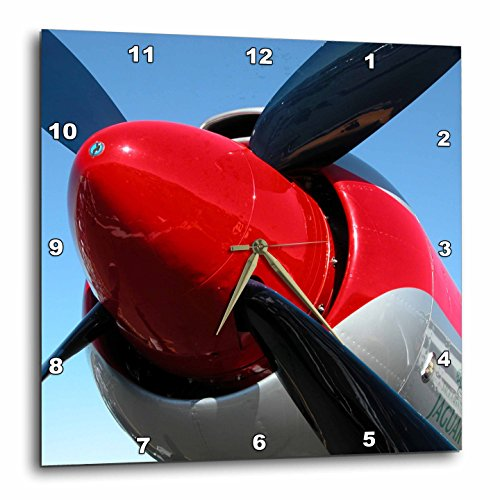 3dRose dpp_29338_1 Propeller Airplanes Photography-Wall Clock, 10 by 10-Inch Review